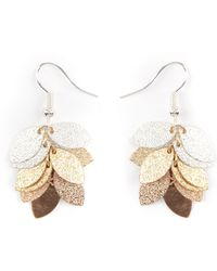 Phase Eight - Ella Leaf Jumble Textured Drop Earrings - Lyst
