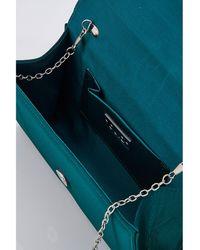 Quiz - Teal Green Brooch Clutch Bag - Lyst