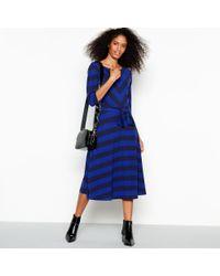 J By Jasper Conran - Blue Chevron Stripe Batwing Knee Length Dress - Lyst bd93995d2