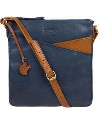 Conkca London - Snorkel Blue & Dark Tan 'avril' Leather Cross-body Bag - Lyst