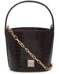 Faith - Black Croc-effect Bucket Bag - Lyst