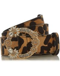 Dune - Multicoloured 'nesteer' Diamante Buckle Trim Belt - Lyst