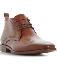 Dune - Tan 'murray' Formal Chukka Boot - Lyst