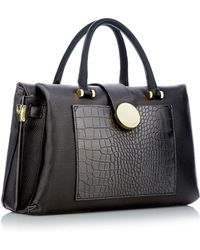 J By Jasper Conran - Black Snakeskin Effect Insert Large Grab Bag - Lyst