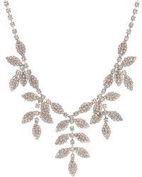Red Herring - Diamante Leaf Necklace - Lyst