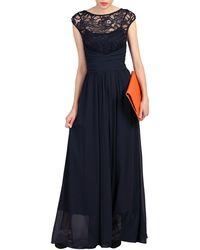 a6ca07ca65 Jolie Moi Lace Bodice Pleated Maxi Dress in Blue - Lyst