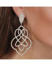 Lipsy - Statement Crystal Filigree Earrings - Lyst