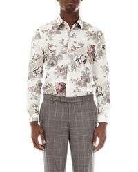 Burton - Multi-coloured Skinny Fit Floral Shirt - Lyst