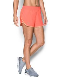 Under Armour - Orange 'endeavor' Running Shorts - Lyst