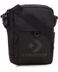 e0eeb212b60 Converse - Black Logo Print Cross Body Bag - Lyst