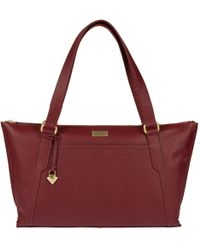 Cultured London - Ruby Red 'alma' Leather Bag - Lyst