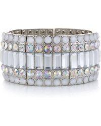 Red Herring - Aurora Borealis Crystal Art Deco Stretch Bracelet - Lyst