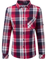 Tog 24 - Cerise Check Rowena Flannel Shirt - Lyst