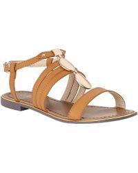 Lotus - Tan 'alpine' T-bar Sandals - Lyst