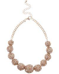 Coast - Rose Gold 'seyda' Statement Necklace - Lyst