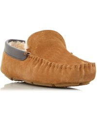 2a5034222402 Dune - Tan  firefly  Shearling Lined Loafer Slippers - Lyst