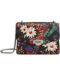 Mango - Black Floral Print 'daisy' Bag - Lyst