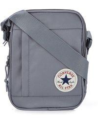 796525ac2564 Converse - Grey Logo Applique Cross Body Bag - Lyst