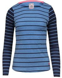 Raging Bull - Navy And Sky Long Sleeves Striped Top - Lyst