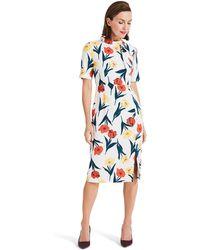 Phase Eight - Cream Melinda Floral Printed Dress - Lyst