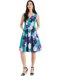 Phase Eight - Green Elba Floral Fit & Flare Dress - Lyst