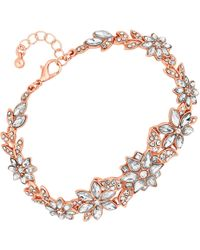 Jenny Packham - Designer Crystal Flower Statement Bracelet - Lyst
