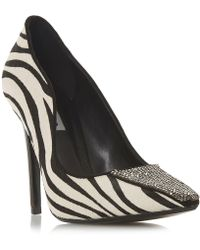 Dune - Multicoloured Leather 'bengall' High Stiletto Heel Court Shoes - Lyst