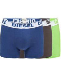 DIESEL - Pack Of Three Assorted Boxer Trunks - Lyst