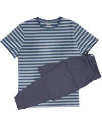 Burton - Navy Marl Pyjama Set - Lyst