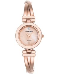 Anne Klein - Ladies Rose Gold Mother Of Pearl 'leah' Analogue Bangle Watch Ak/n2622lprg - Lyst