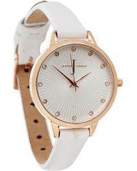 J By Jasper Conran - Ladies' White Fan Textured Watch - Lyst