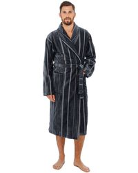 Marks   Spencer Pure Cotton Velour Luxury Two Tone Dressing Gown in ... 37e52ceea