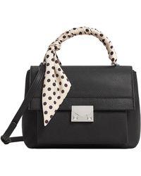 Mango - Black 'lunar' Scarf Handle Bag - Lyst