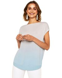 Oasis - Mint Ombre Knit T-shirt - Lyst