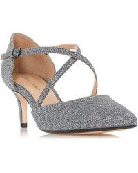 Roland Cartier - Silver Patent 'doffy' Kitten Heel Court Shoes - Lyst