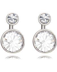 Pilgrim - Silver Plated 2-in-1 Crystal Earrings - Lyst