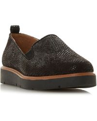 Dune - Black 'gambles' Loafers - Lyst