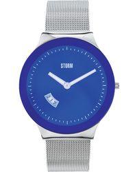 Storm - Men's Blue Glass Dial Watch Sotec Lzr Blue - Lyst