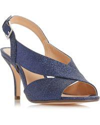 Roland Cartier - Navy 'matilda' Mid Stiletto Heel Ankle Strap Sandals - Lyst