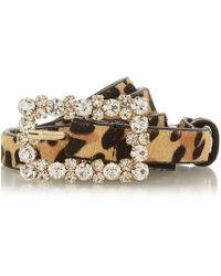Dune - Multicoloured 'norriss' Diamante Buckle Belt - Lyst