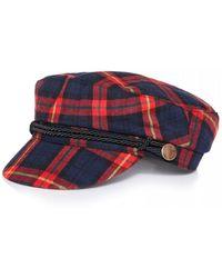Quiz - Red Check Baker Boy Hat - Lyst