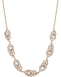 Jenny Packham - Designer Crystal Feather Necklace - Lyst