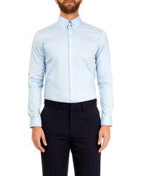 Burton - Blue Slim Fit Sateen Pin Shirt - Lyst