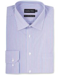 Double Two - Big And Tall Purple Trio Stripe Formal Shirt - Lyst