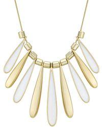 J By Jasper Conran - Designer Shell Droplet Necklace - Lyst