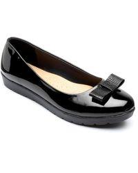 Freestep - Black 'faye' Ballerina Shoes - Lyst