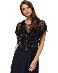 Jenny Packham - Black Bead Embellished Shrug - Lyst