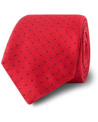 Tm Lewin - Red Spotted Silk Tie - Lyst