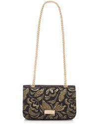 Faith - Black And Gold 'plum' Cross Body Bag - Lyst