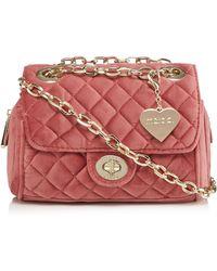Marc B. - Dark Pink Velvet 'knightsbridge' Quilted Shoulder Bag - Lyst